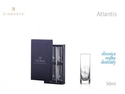 Swarovski - Atlantis odlivky s bílými krystaly Swarovski Elements v dárkovém balení - 6*50 ml