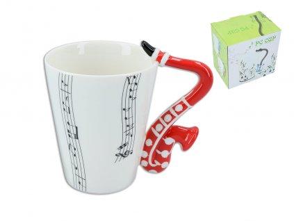 """Hanipol - Hudební hrnek """"Saxofon"""" v dárkové krabičce - 400 ml"""
