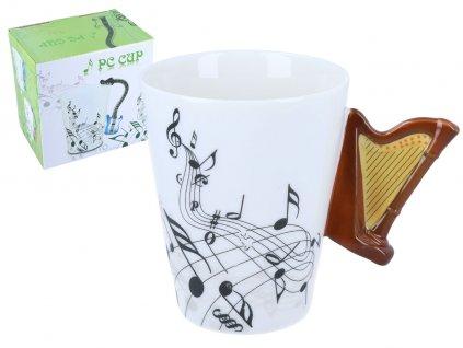 """Hanipol - Hudební hrnek """"Harfa"""" v dárkové krabičce - 400 ml"""