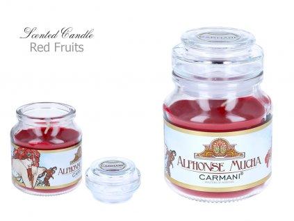 """A. Mucha - Vonná svíčka ve skle """"Red Fruit """" - 335 g"""