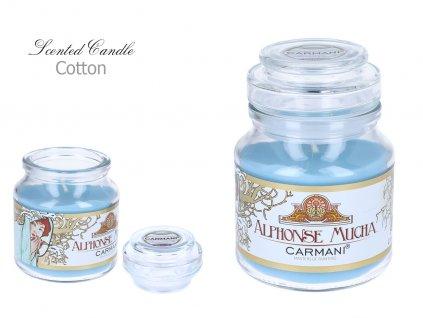 """A. Mucha - Vonná svíčka ve skle """"Cotton"""" - 335 g"""