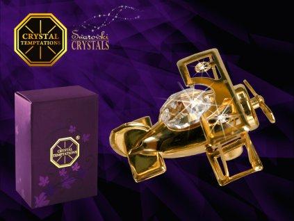 """Swarovski - designová figurka  """"LETADÉLKO"""" s bílými krystaly Swarovski Elements v dárkové krabičce 4,5*2,5 cm"""