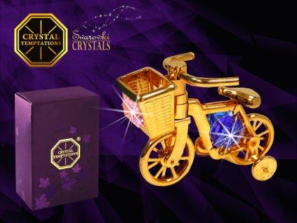 """Swarovski - designová figurka  """"DĚTSKÉ KOLO"""" s bílými krystaly Swarovski Elements v dárkové krabičce 7*5 cm"""