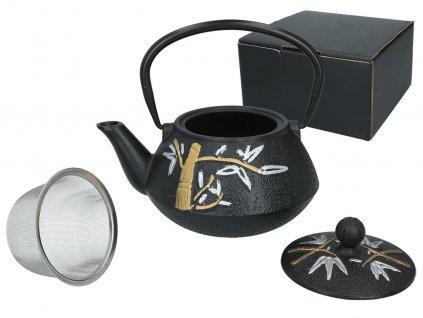 """Carmani - Litinový čajník s kovovým sítkem """"ORIENTAL"""" - 800 ml"""