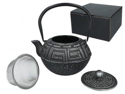 Carmani - Litinový čajník s kovovým sítkem - 1,2 l