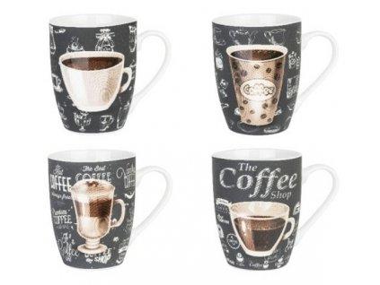 Porcelánové hrnky na kávu CLASSICO - 4*350 ml