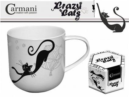 """Carmani - Porcelánový hrníček """"Černá kočka"""" v dárkové krabičce - 500 ml"""