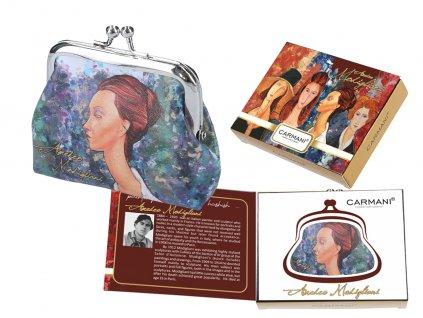 Malá peněženka A. Modigliani v dárkové krabičce