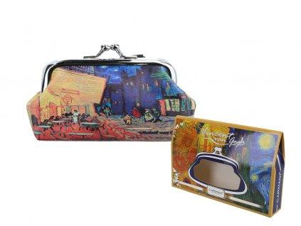 """Velká peněženka V. Van Gogh """"Kavárna na terase v noci"""""""