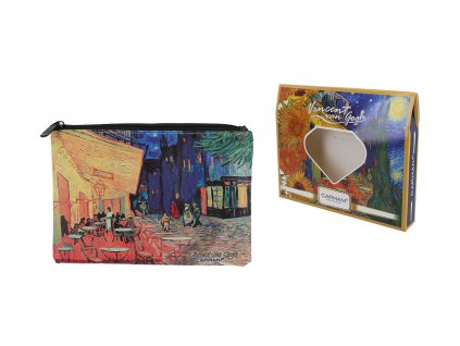Kosmetická taštička V. Van Gogh Kavárna na terase v noci