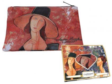 Carmani - Kosmetická taštička  A. Modigliani  v dárkové krabičce - 22*16,5*1 cm