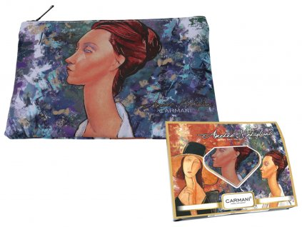 Carmani - Kosmetická taštička  A. Modigliani II v dárkové krabičce - 22*16,5*1 cm