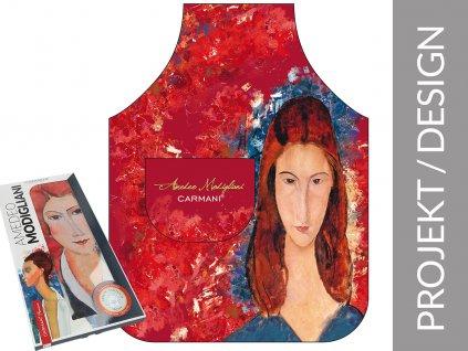Kuchyňská zástěra A. Modiglian