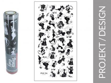 """Ručník Všechny kočky na světě """"bílé pozadí"""" v dárkové krabičce"""