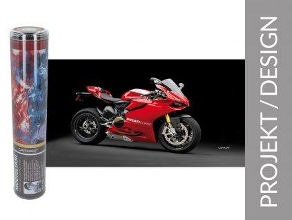 Carmani - Ručník Ducati Corse v dárkové krabičce - 70*140 cm