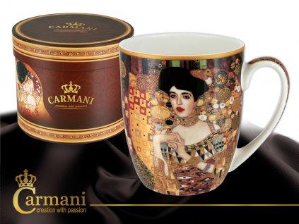 """Carmani - Porcelánový hrnek Gustav  Klimt """"Adele Bloch"""" v dárkové krabičce - 400 ml"""