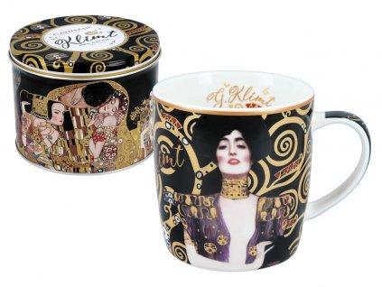 """Carmani - Porcelánový hrnek Gustav Klimt """"Judith"""" v designové dóze - 450 ml"""