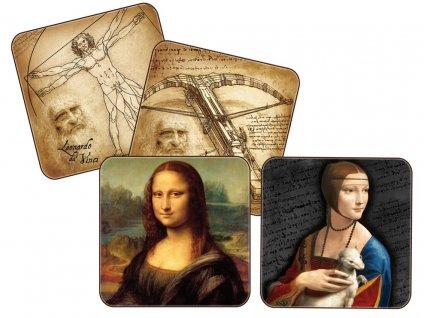 Carmani - Korkové prostírání pod skleničky Leonardo da Vinci