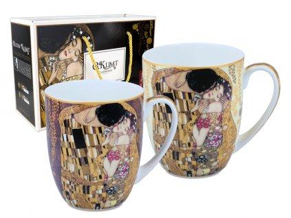 Carmani - Porcelánové hrnky G. Klimt v dárkovém kufříku - 2*350 ml