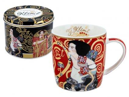 Carmani - Porcelánový hrnek G. Klimt v plechové dárkové krabičce - 450 ml