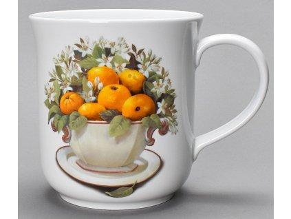"""Velký porcelánový hrnek GOLEM """"Pomeranče"""" - 1,5 l"""