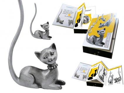 """Kovový stojánek na šperky ve tvaru kočky """"Micka"""""""