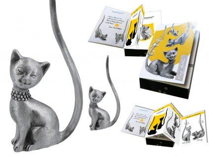 "Kovový stojánek na šperky ve tvaru kočky ""Mína"""