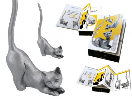 """Kovový stojánek na šperky ve tvaru kočky """"Manka"""""""