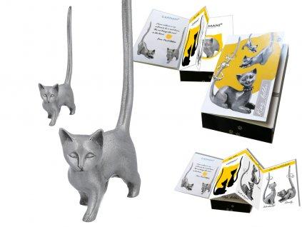 """Kovový stojánek na šperky ve tvaru kočky """"Máša"""""""