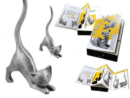 "Kovový stojánek na šperky ve tvaru kočky ""Mourek"""
