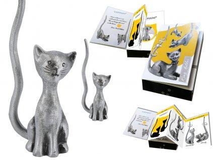 "Kovový stojánek na šperky ve tvaru kočky ""Macík"""