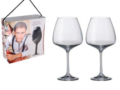 Sada 2 sklenic na červené víno v dárkovém balení
