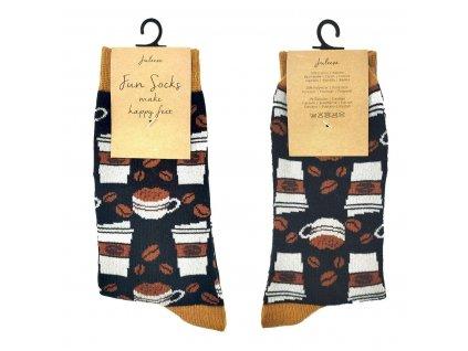 """Ponožky """"Coffee"""" - 39-41"""