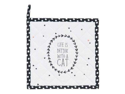 Clayre & Eef - Podložka pod hrnec nebo chňapka Cat Lovers
