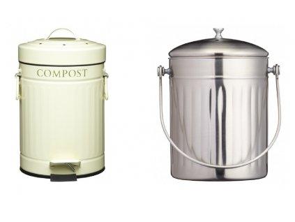 2 Kompostéry Kitchen Craft na domácí bioodpad