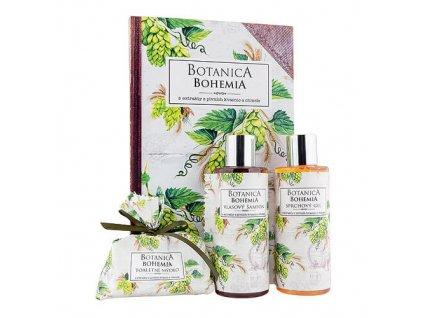 Bohemia Gifts Botanica sada gel 200ml, šampon 200ml a mýdlo 100g - chmel a obilí