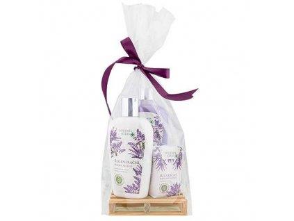 Bohemia Herbs Levandulová kosmetická sada - mýdlo, mléko a tuhé mýdlo