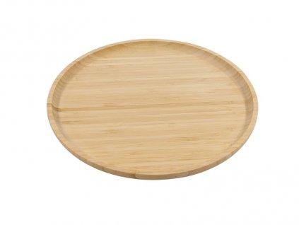 Bambusové kulaté prkénko s drážkou - 26 cm