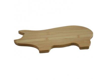 Bambusovprkénko ve tvaru prasátka - 28*18*1 cm