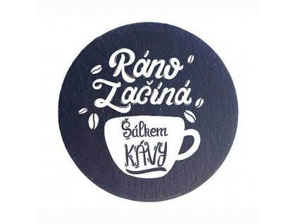 """Kameninové podtácky ,,šálek kávy""""  /průměr 10 cm/ - 2 ks"""