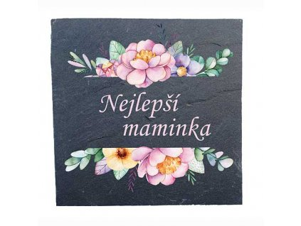 Bohemia Gifts Kameninové podtácky 2 ks 10x10cm - pro maminku