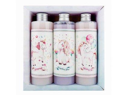 Bohemia Gifts Dárkový kosmetický balíček XL - pro holky - jednorožec