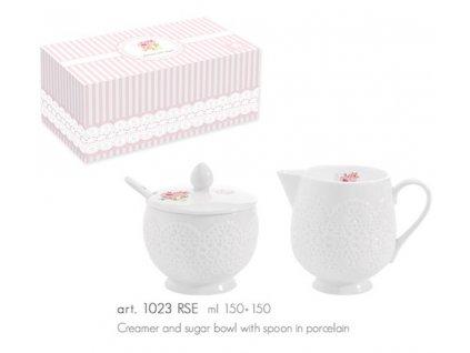Easy Life - Porcelánová cukřenka & mléčenka ROSES