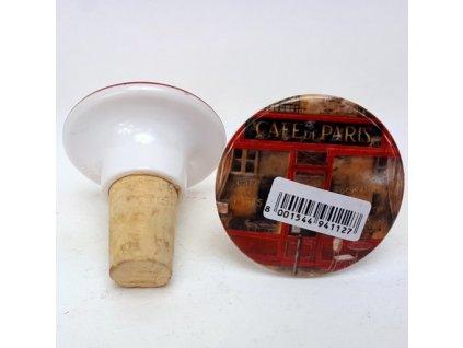 Ozdobná plastová zátka s korkem na láhev