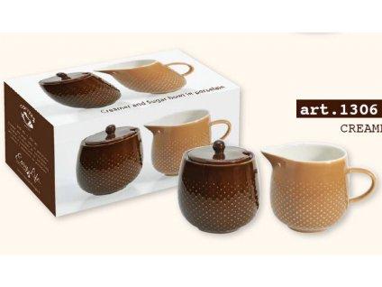 """Easy Life - Porcelánová cukřenka a mléčenka """"RAINDROP COFFEE"""" v krabičce"""