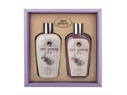 Bohemia Herbs Kosmetická sada První republika - gel a tělové mléko