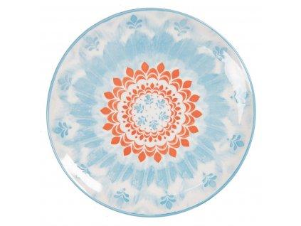 Clayre & Eef - Dezertní talíř BLUE ORNAMENT - Ø 21 cm