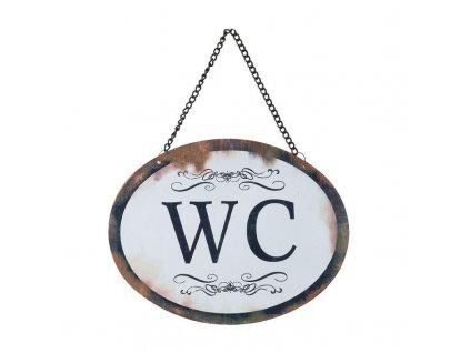 Clayre & Eef - Cedulka k označení místnosti WC - 17*13 cm