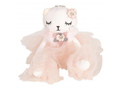 Kočička v růžových šatech