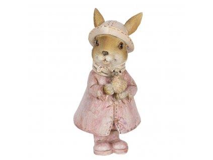 Clayre & Eef - Figurka zaječky s kachničkou na procházce - 8*6*13 cm